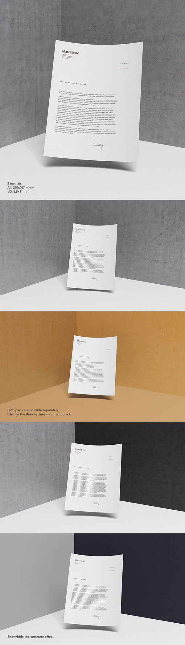 Letterhead MockUp PSD | GraphicBurger