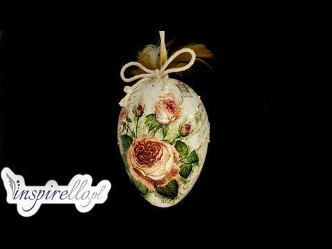 Pisanka decoupage w kwiatki # Easter egg DIY - YouTube