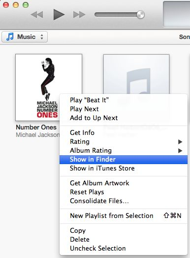 how to find songs location from itunes