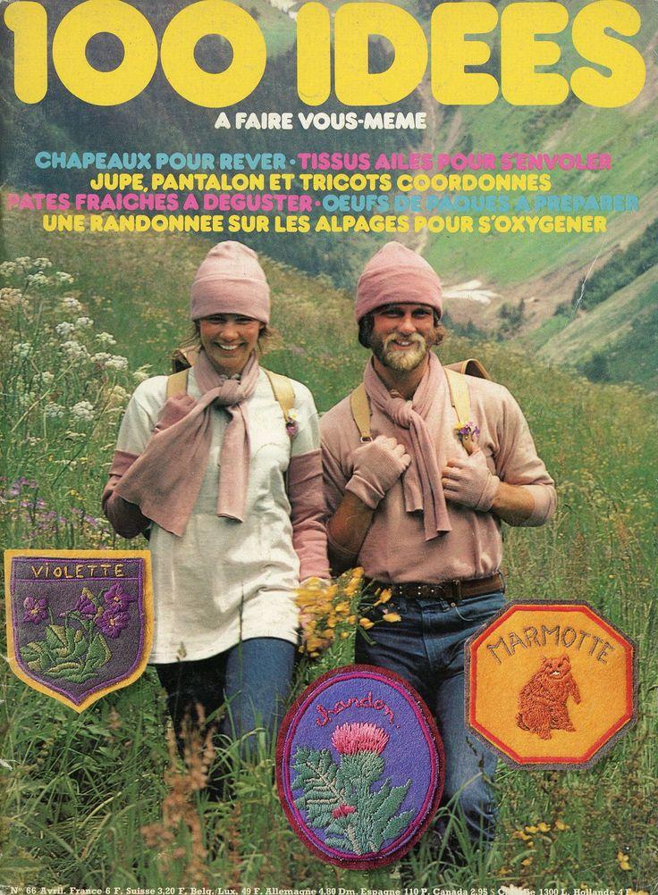 100 Idées n° 66 - avril 1979 - couverture. Un numéro riche en propositions, principalement axé sur le thème de la montagne.