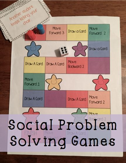 Social problem solving role play games to help kids solve problems instead of just reacting to them!
