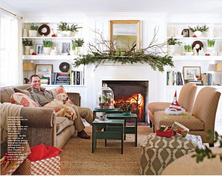 The feel of this room....the fireplace with batten board above the mantel, built ins book shelves and windows for lots of light! Add brick or riverstone around the fireplace and plaint the backs of the book shelves...a soft huge carpet/rug and my furniture and decor!:) Can't wait to have a place like this!