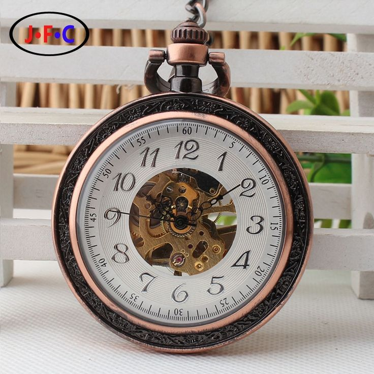 16.99$  Watch now - 2017 retro pocket watch young men and women bronze Arabia digital mechanical pocket watch student graduation gift  #magazineonline