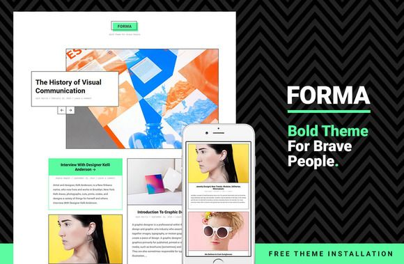 Forma - Bold Theme For WordPress by Just Good Themes on @creativemarket