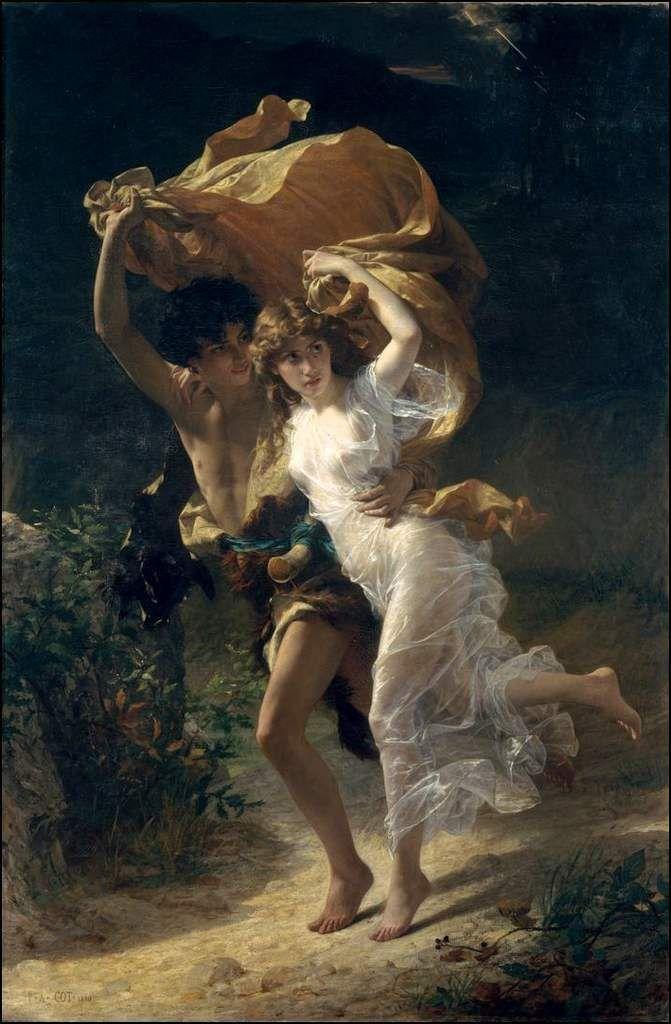 Amoureux en peinture - Pierre-Auguste Cot (1837–1883) - la tempête