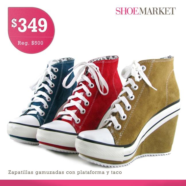 Los sneakers con plataforma y taco son el calzado de moda en esta tempora otoño/invierno. ShoeMarket te trae varios modelos, entre ellos esas coloridas y modernas zapatillas que vienen en varios colores. Se ven muy bien puestas!. https://www.facebook.com/shoemarket.ar