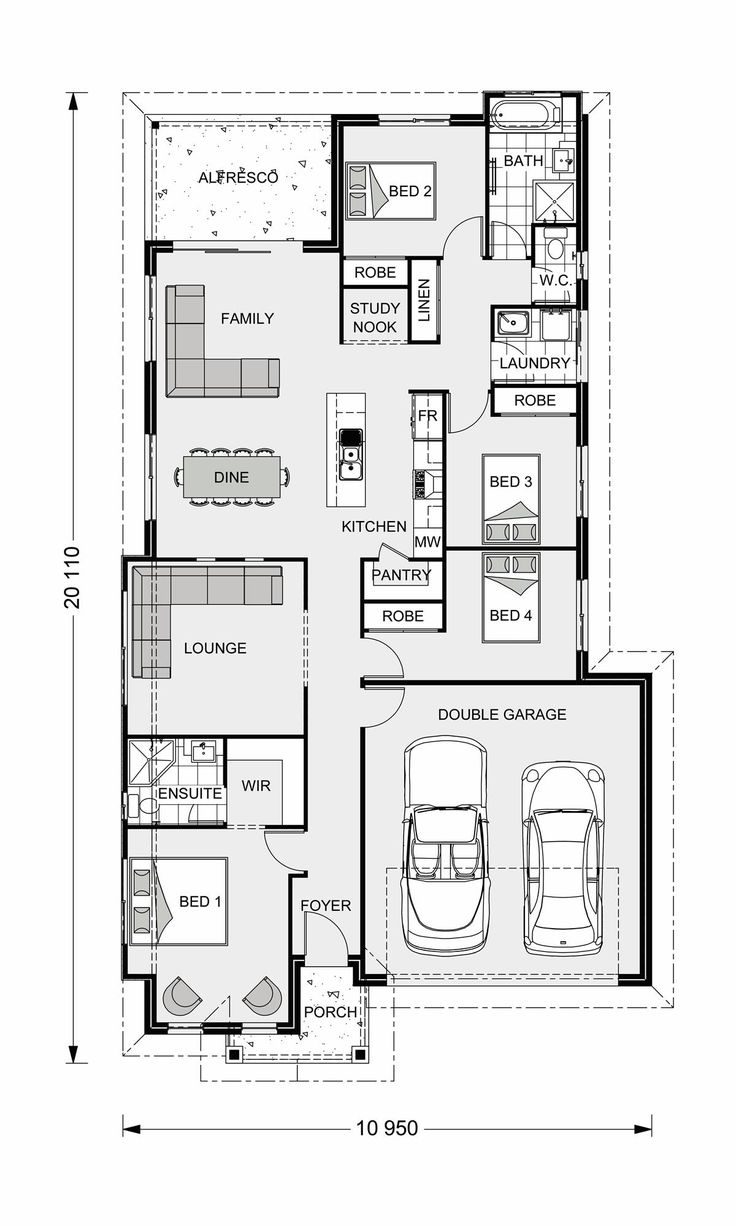 Bridgewater 186 our designs grafton builder gj gardner for Home builder plans