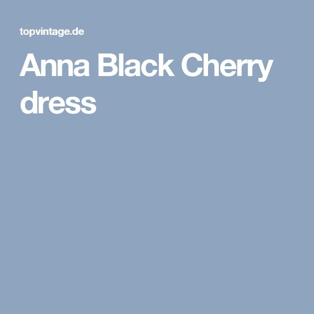 Anna Black Cherry dress