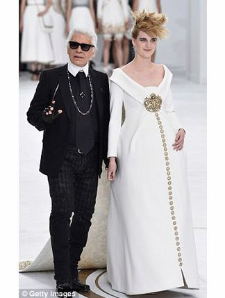 Chanel Couture's Grand Finale? A Pregnant Model - how great is this!