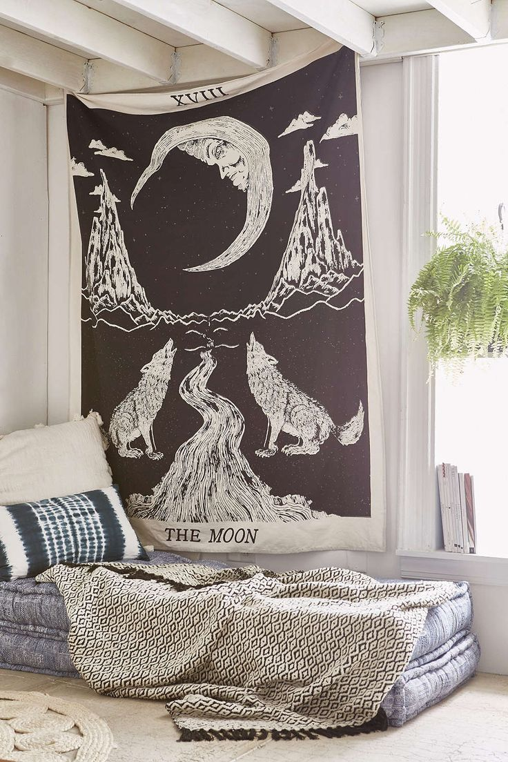 Urban outfitters bedroom tapestry - Magical Thinking Moon Tarot Tapestry Urban Outfitters