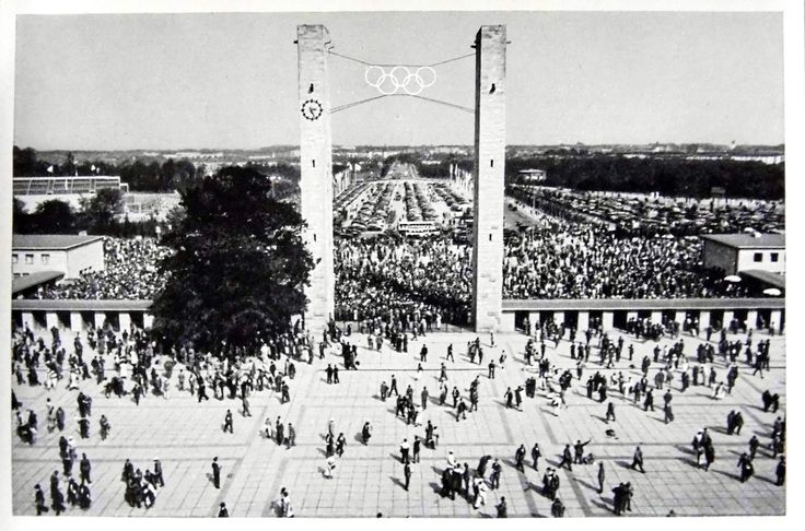 1936 Berlin Olympics Photograph - The East Gate of the Olympic Stadium on August 1, 1936, Awaiting the Arrival of the Fuhrer | by France1978