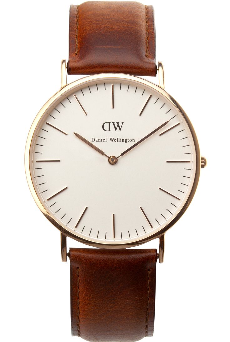 1 boyfriend watch in neutral: black/brown or pop of color: red/white/green etc * (Daniel Wellington brown leather with gold or rose gold. tapiture.com)