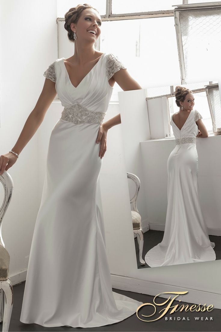 9 best images about slinky wedding dresses on pinterest for Beautiful fitted wedding dresses