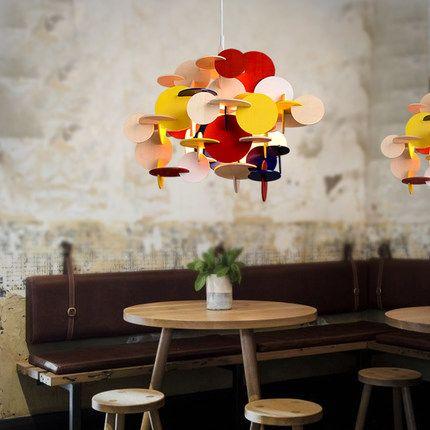 Творческий novelty DIY ручной работы Строительные блоки милые дерево кулон лампа e27 красочные капля света для спальни ребенка 90 265 В A316купить в магазине Y3 lighting StoreнаAliExpress