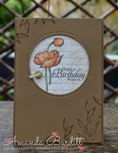 SU Simply Sketched set * Great card using kraft and tangerine tango from pandacream-creations.blogspot.com