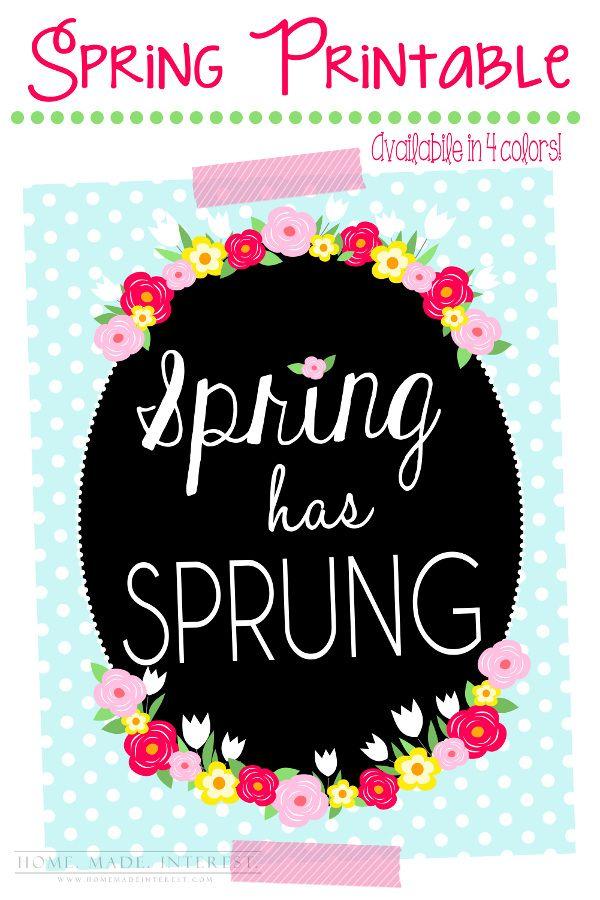157 best printables~spring images on Pinterest | Free printable ...
