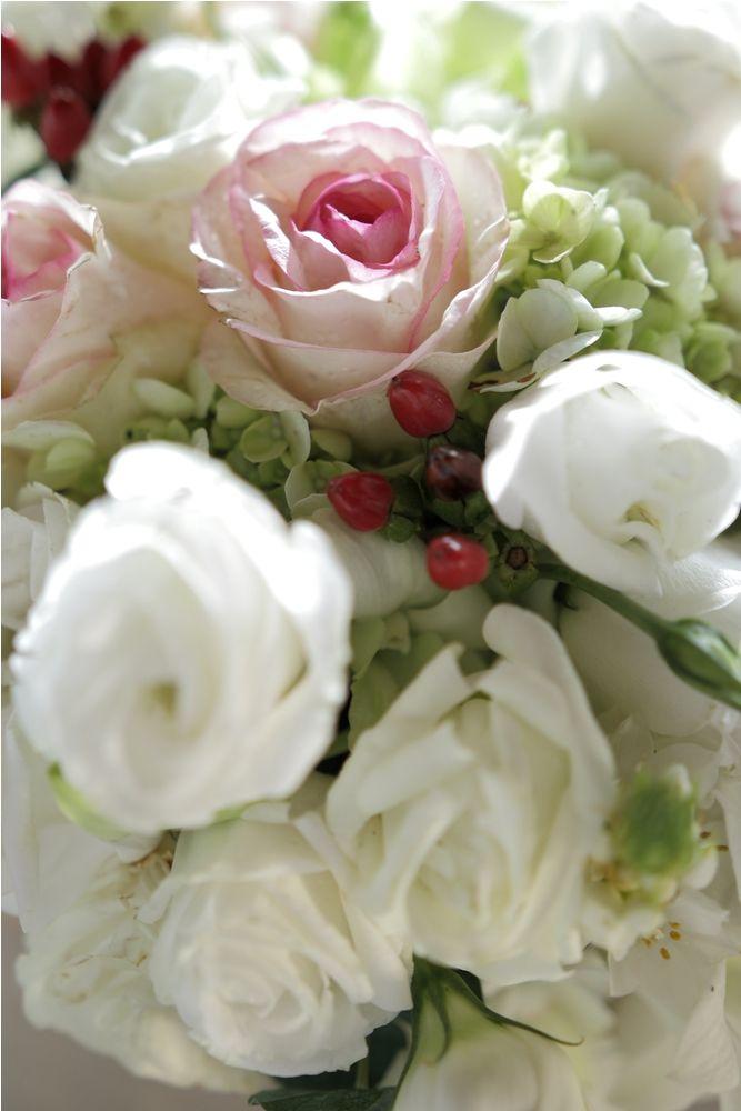 Flower centerpiece with Red Hypricum accent b by Tirtha Bridal Uluwatu Bali
