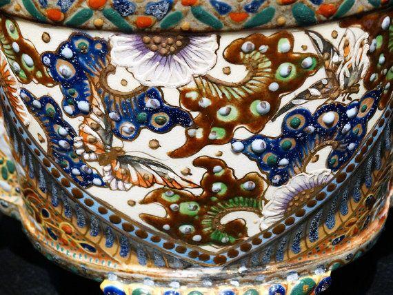 Signed Kinkozan Bowl Antique Japanese Satsuma by ElegantArtifacts