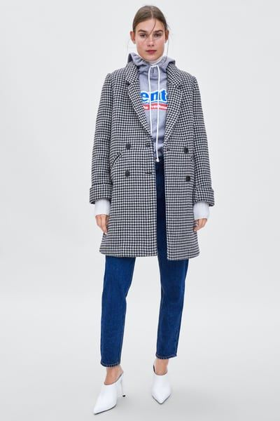 a5ce1103 Image 1 of HOUNDSTOOTH COAT from Zara | clothes in 2019 ...