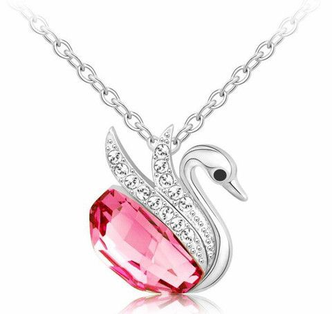 Necklace pendant  Swan Bijoux made with elements crystals from Swarovski