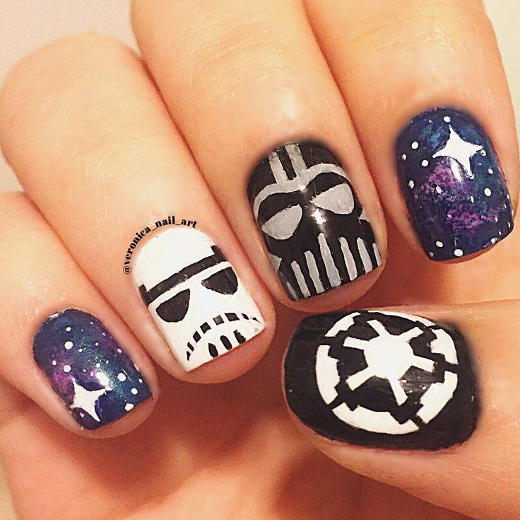 Star Wars imperial nail art