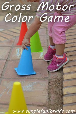 gross motor color game great way to get the kids outside and learning - Coloring Games For Preschoolers