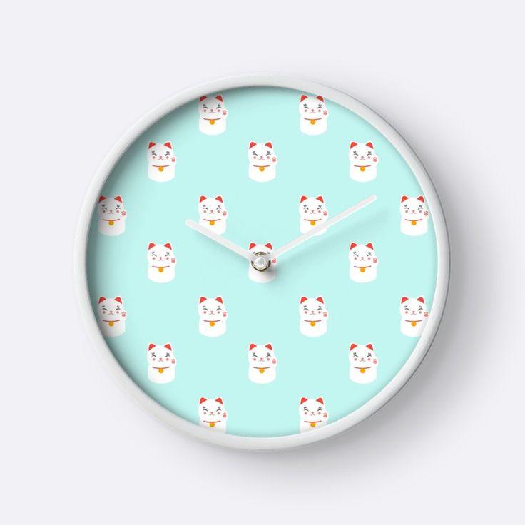 https://www.redbubble.com/people/eugeniaart/works/31453566-lucky-happy-japanese-cat-pattern?asc=u&p=clock&rel=carousel
