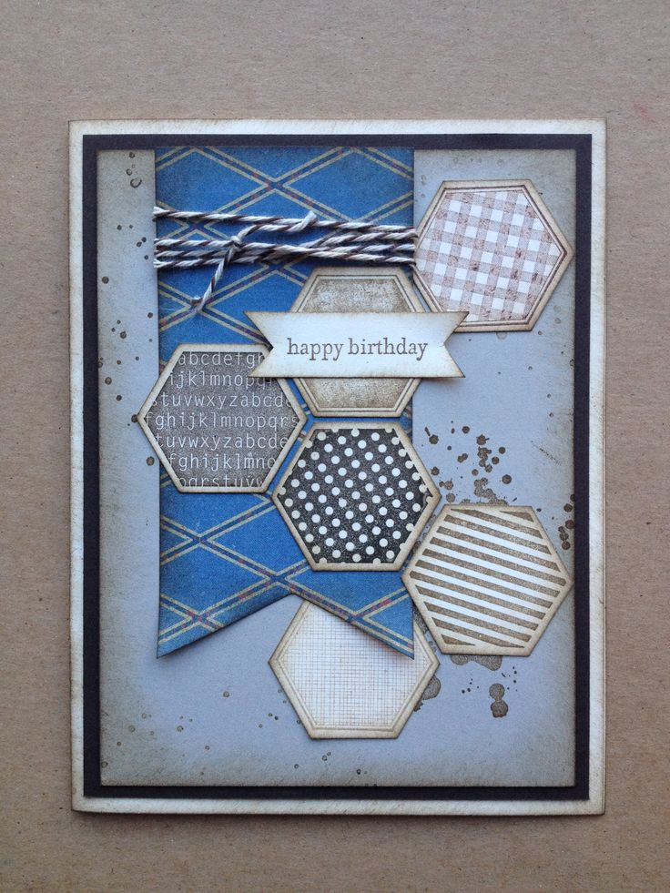 239 best stampin up manly men cards n crafts images on pinterest stampin up stampin sisters crafty card class masculine birthday card six bookmarktalkfo Choice Image