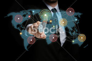 Touch Screen Network Royalty Free Stock Photo