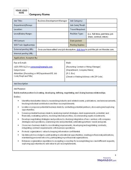 Job Description Templates Download Free Job Description Templates - ceo job description