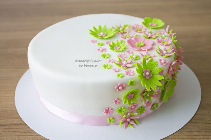 Mini version of a wedding cake I made earlier