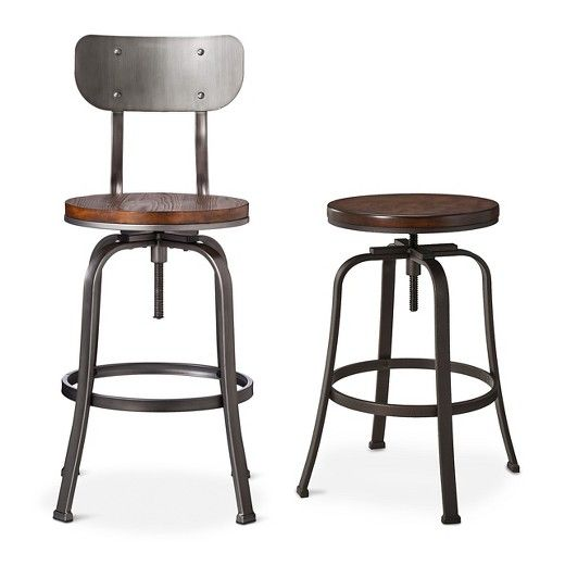 Dakota Backed Adjustable Barstool
