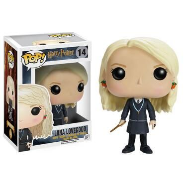 This Pop Movies - Luna Lovegood figure brings the Magizoologist to life. Wearing her Ravenclaw uniform along with her wand and necklace, Luna Lovegood makes for an adorable Pop! vinyl figure.