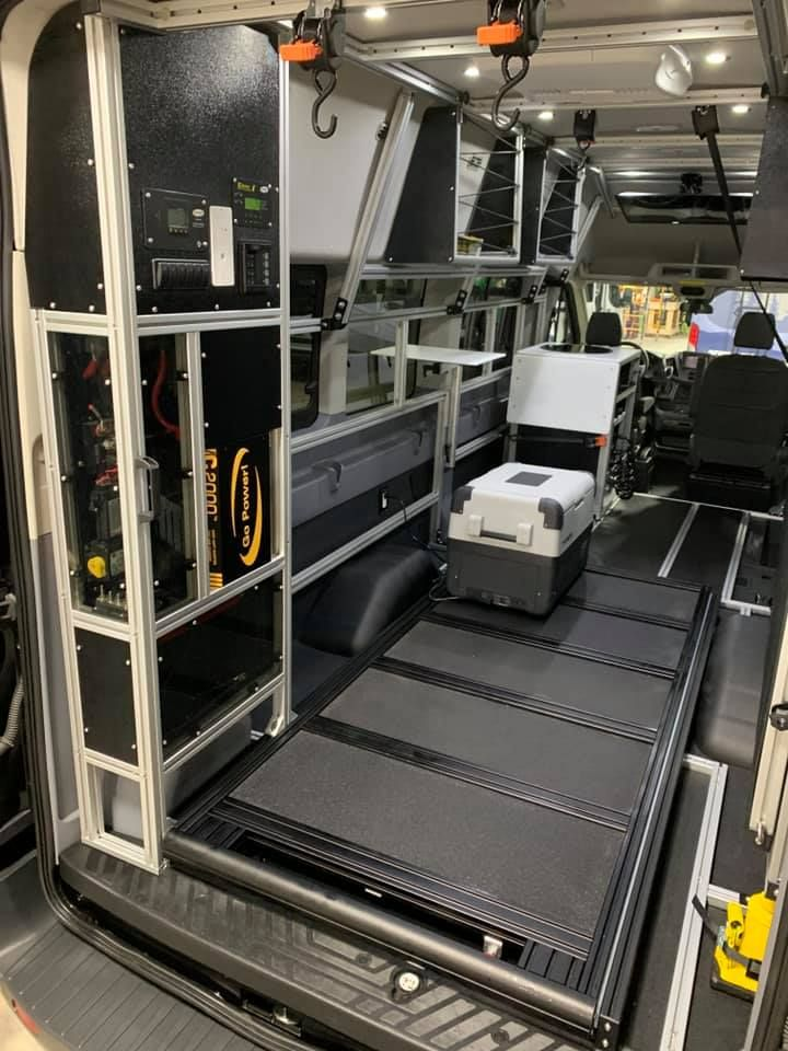 A Camper Van That Transforms To Meet Your Daily Needs Vandoit Built On The Ford Transit 350 Xlt Ford Transit Ford Transit Camper Transit Camper