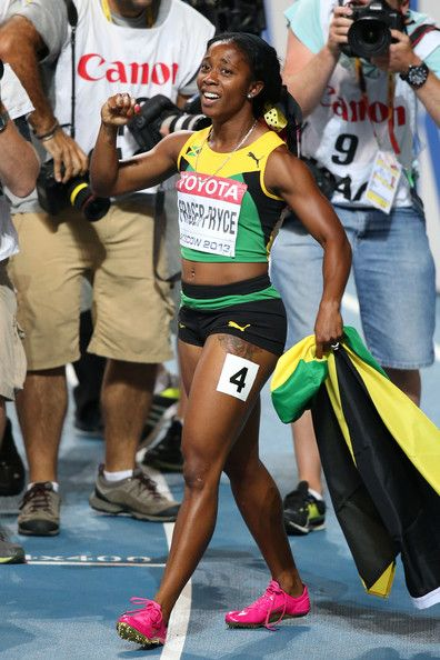 Shelly-Ann Fraser-Pryce - IAAF World Athletics Championships Moscow: Day 3