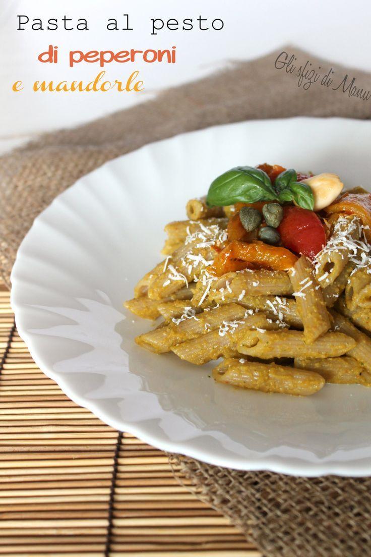 Pasta al pesto di peperoni e mandorle. Provala con Pasta Andalini! #Andalinilatuapasta www.andalini.com