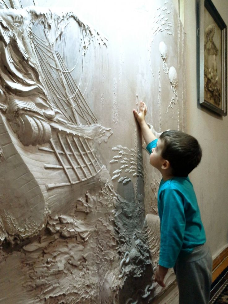 206 best images about raised plaster designs on pinterest for Plaster wall art