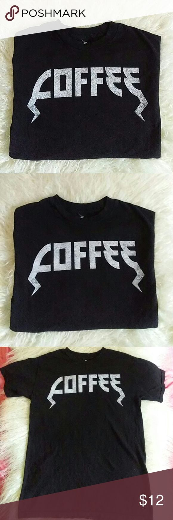 """COFFEE T-Shirt 100% Cotton Size S Black short """"COFFEE"""" short sleeve shirt Old German Font. 100% cotton Made in Mexico Brand new.  Smoke free home Fifth Sun Tops Tees - Short Sleeve"""