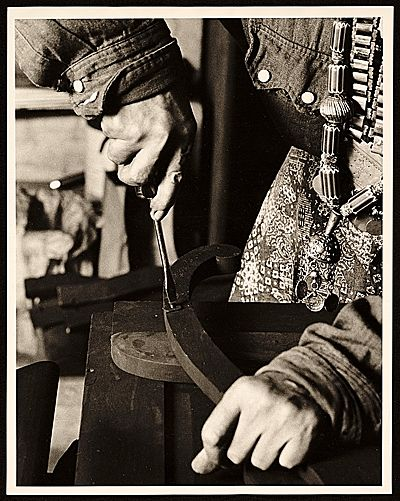 Louise Nevelson hands at work, from the Smithsonian Archives of American Art