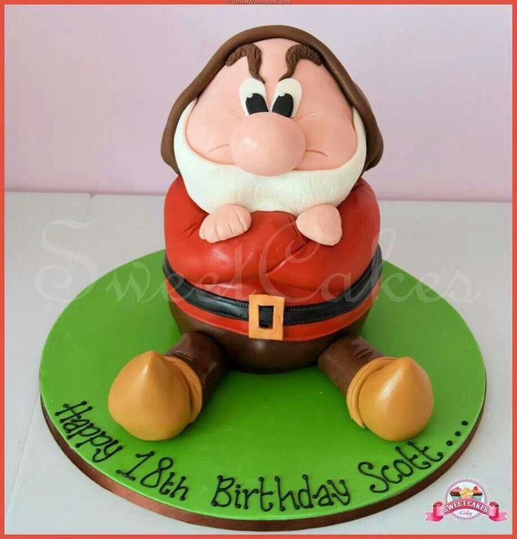 3d Grumpy Dwarf Cake Grumpy Grumpy Dwarf Cake Birthdays