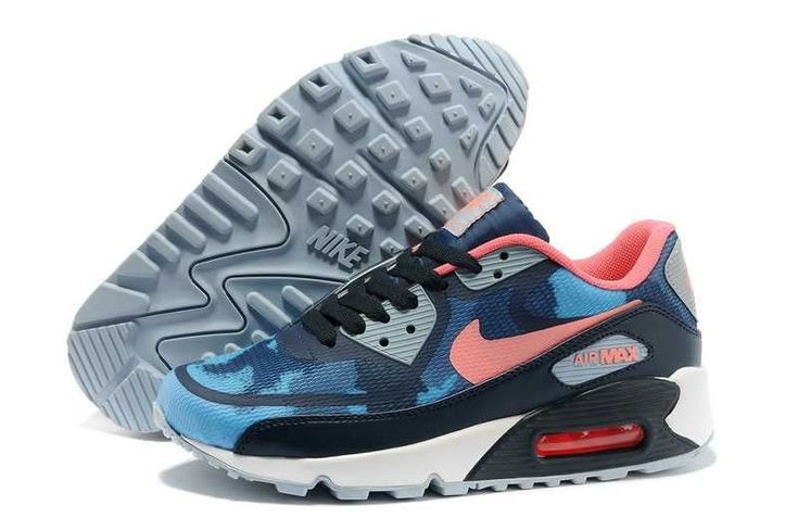 1767 : Nike Air Max 90 Prm Tapes Dam Atomic Light Rosa Navy Blå Rosa SE275797taqsLjNy