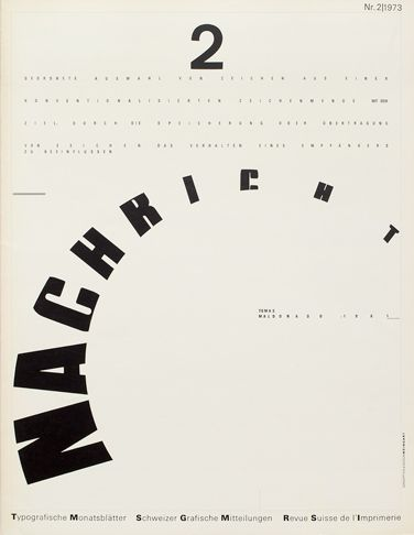 Typographische Monatsblätter|Cover from 1973 issue 2