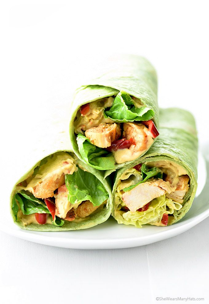 ... Wraps on Pinterest | Healthy chicken wraps, Healthy lunch wraps and