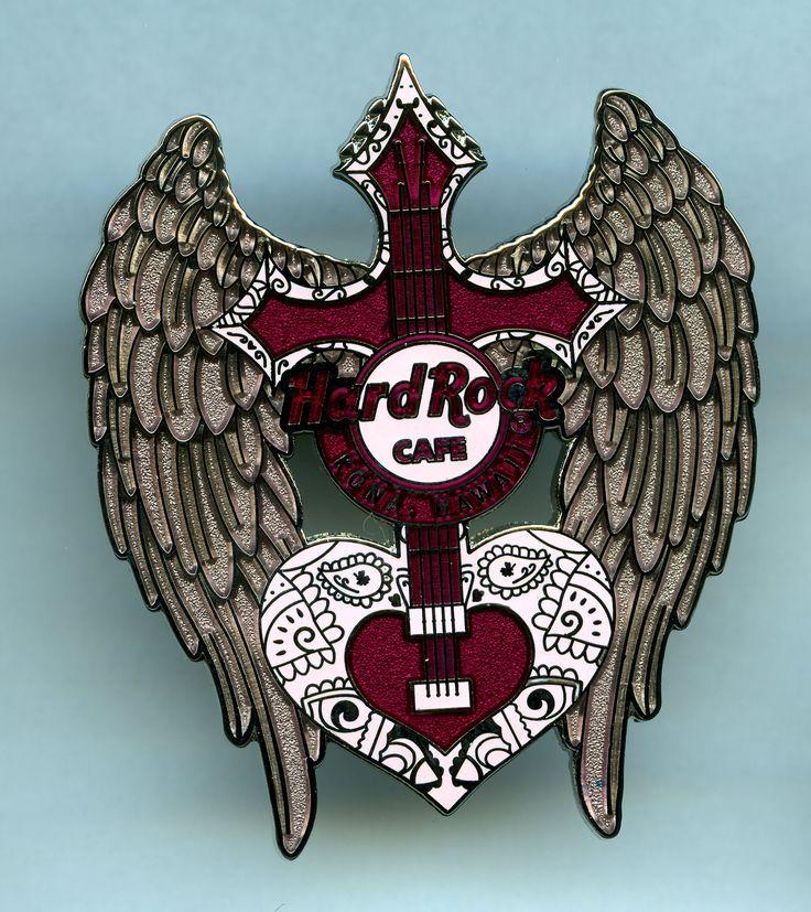 Kona, Hawaii - Hard Rock Cafe Guitar Pin