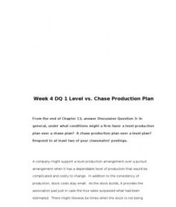 BUS307   BUS 307   Week 4 DQ 1 Level vs. Chase Production Plan --> http://www.scribd.com/doc/155157131/bus307-bus-307-week-4-dq-1-level-vs-chase-production-plan