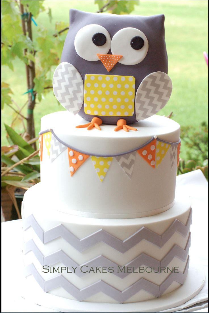 Baby shower cake to match nursery by Simply Cakes, Melbourne.