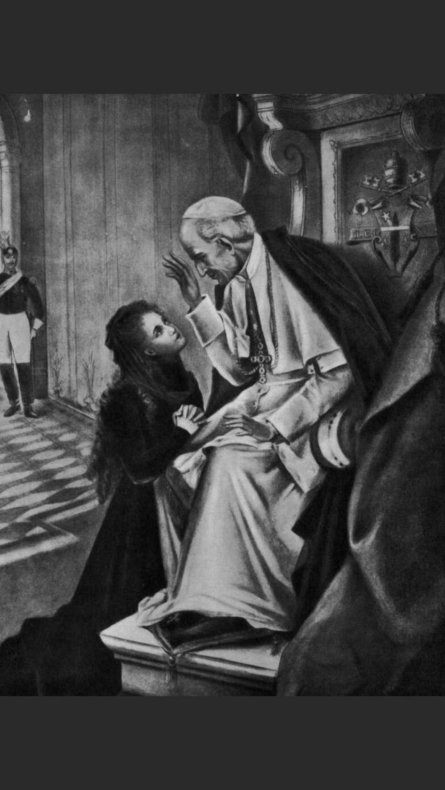 St Therese of Lisieux asked Pope Leo XIII to permit entry to Carmel when young