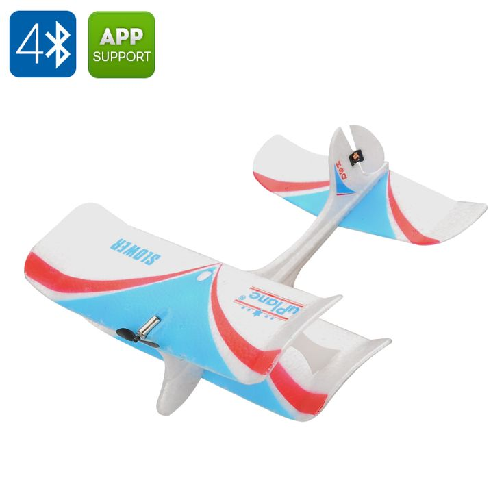 Bluetooth 4.0 Smartphone Controlled Airplane - Free App for Android and iOS 80m Remote Distance 10 Minute Flight Time
