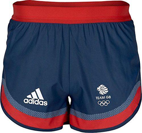 adidas Team GB Mens Split Running Shorts - Navy