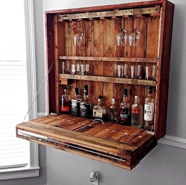 Rustic Home Bar Ideas: Bar Table Diy, Bars For Home, Wall